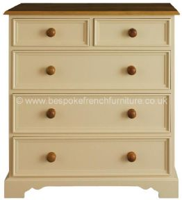 Elizabeth Bespoke 2 over 3 Chest of 5 Drawers